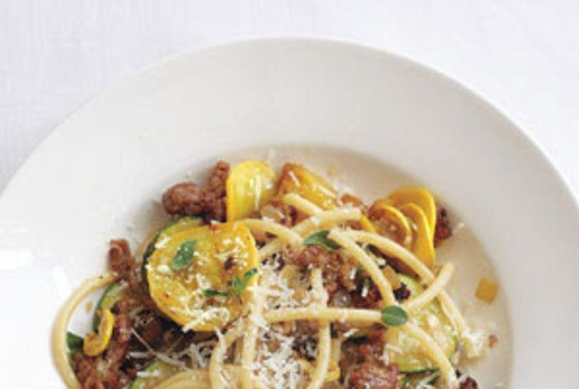 Bucatini with turkey sausage and zucchini recipe whole