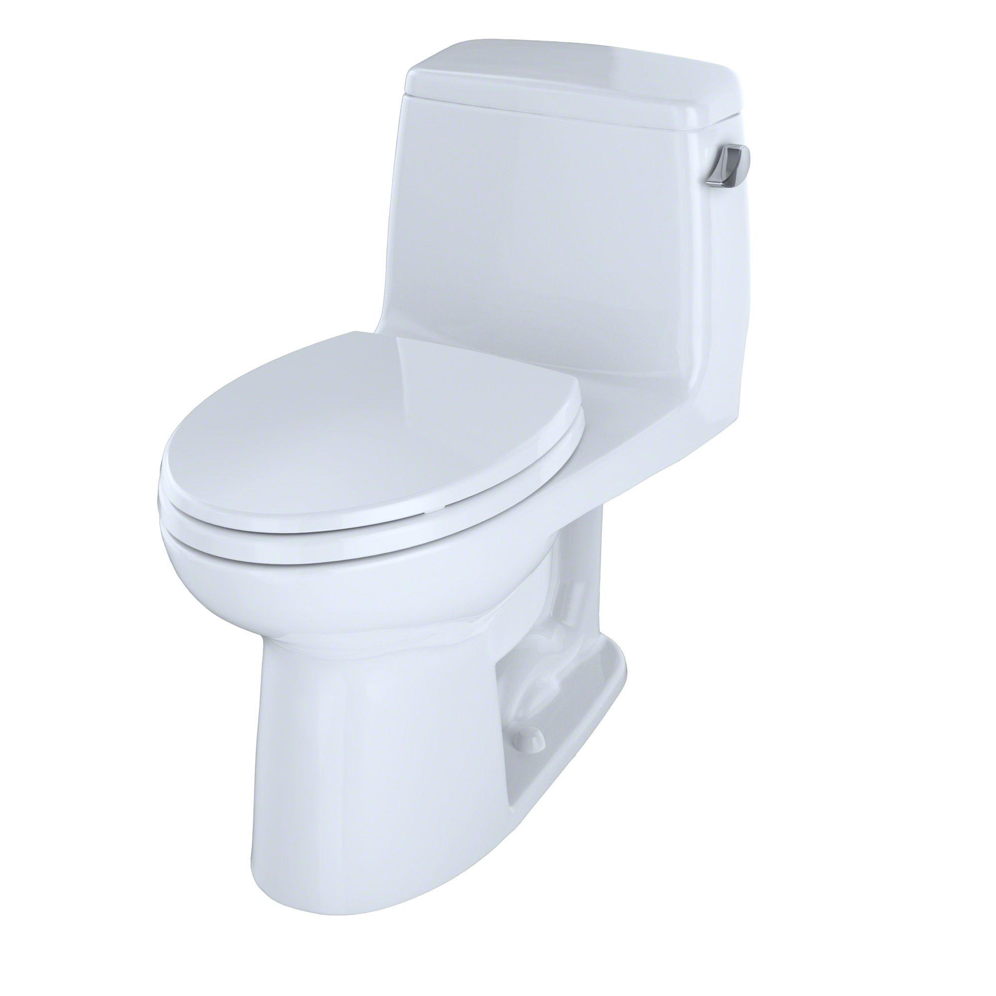 Toto Eco Ultramax One Piece Elongated 1 28 Gpf Ada Compliant Toilet With Right Hand Trip Lever Cotton White Ms854114elr 01 Toto Toilet Traditional Toilets Toilet