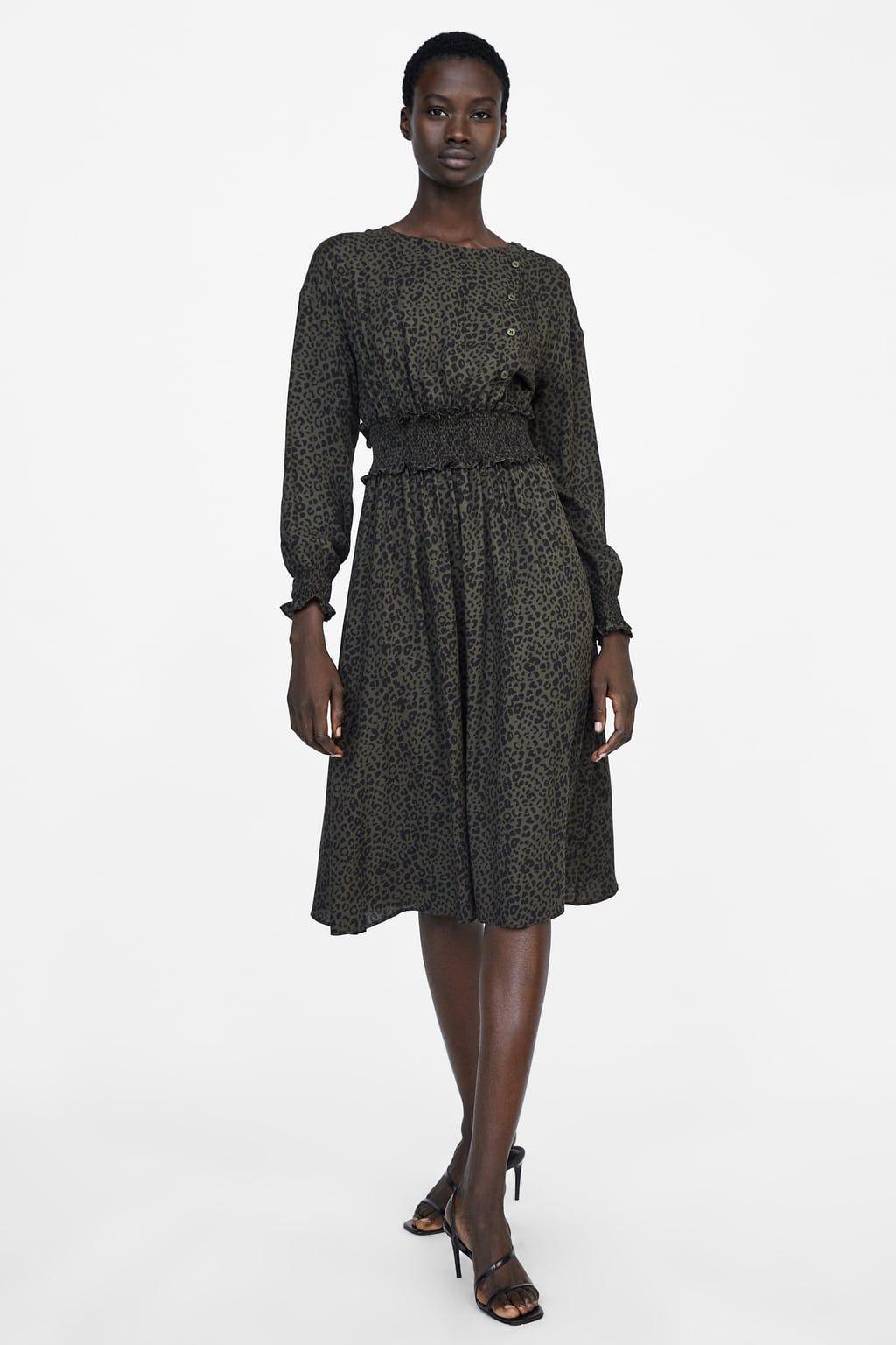 precios baratass mejor lugar diseño profesional VESTIDO ESTAMPADO ANIMAL | Animal print dresses, Dresses ...