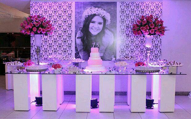 Mesa Para Torta 15 Anos Arrangement Pinterest Quinceanera