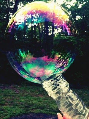 A simple way to reuse and create big bubbles just cut the for How to make a bubble blower from a water bottle