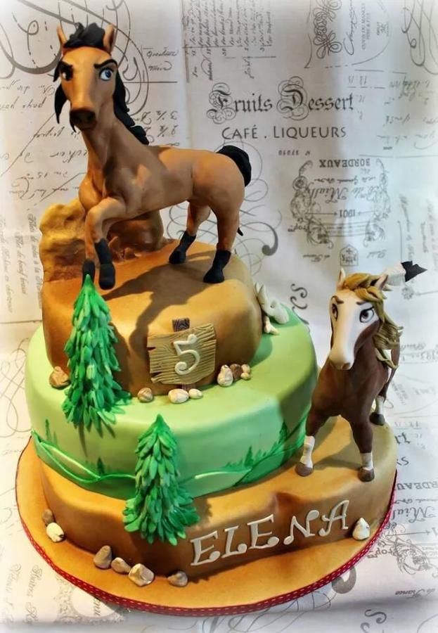 Spirit Wild Horse Cake By Sabrina Di Clemente Cakes And Fancy