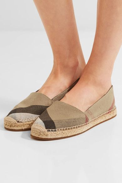 BURBERRY espadrilles Chic Checked canvas espadrilles BURBERRY in 2018   BURBERRY Luxury   53d802