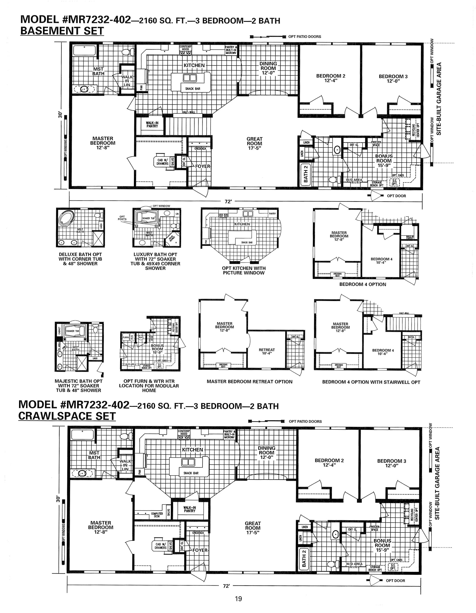 Schult Integrity 402 Modular Manufactured Modular Home Plans