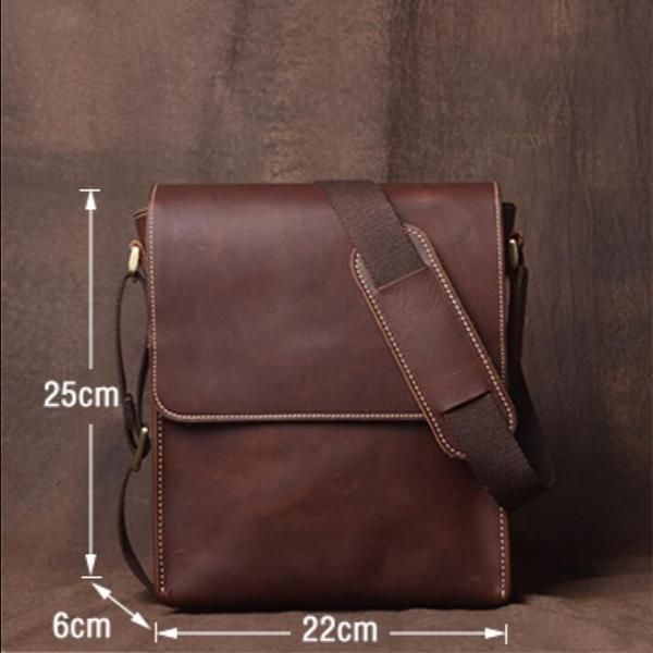 Leather Crossbody Bag Leather Messenger Bag School BagHandmade Bag JZ007  Leajanebag