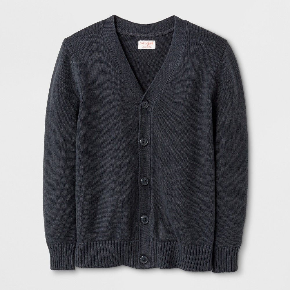 5de61a0fa03d Complete your guy s uniforms with this V-Neck Uniform Cardigan from Cat and  Jack during cooler months. This uniform cardigan comes with a V-neckline  and ...