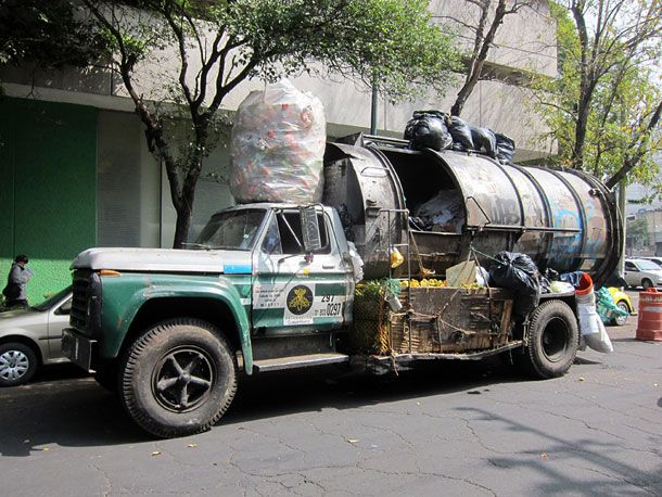 A Garbage Truck In Mexico City Rubbish Truck Garbage