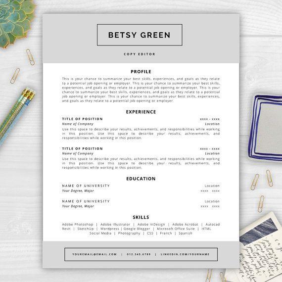 Professional résumé template editable in MS Word including résumé - microsoft word references template