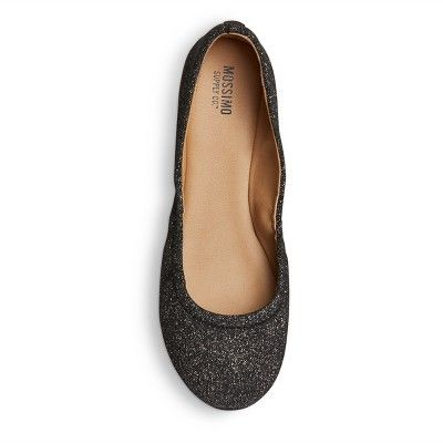 7f40d26342cc Women s Ona Wide Width Round Toe Ballet Flats - Mossimo Supply Co. Pewter  (Silver