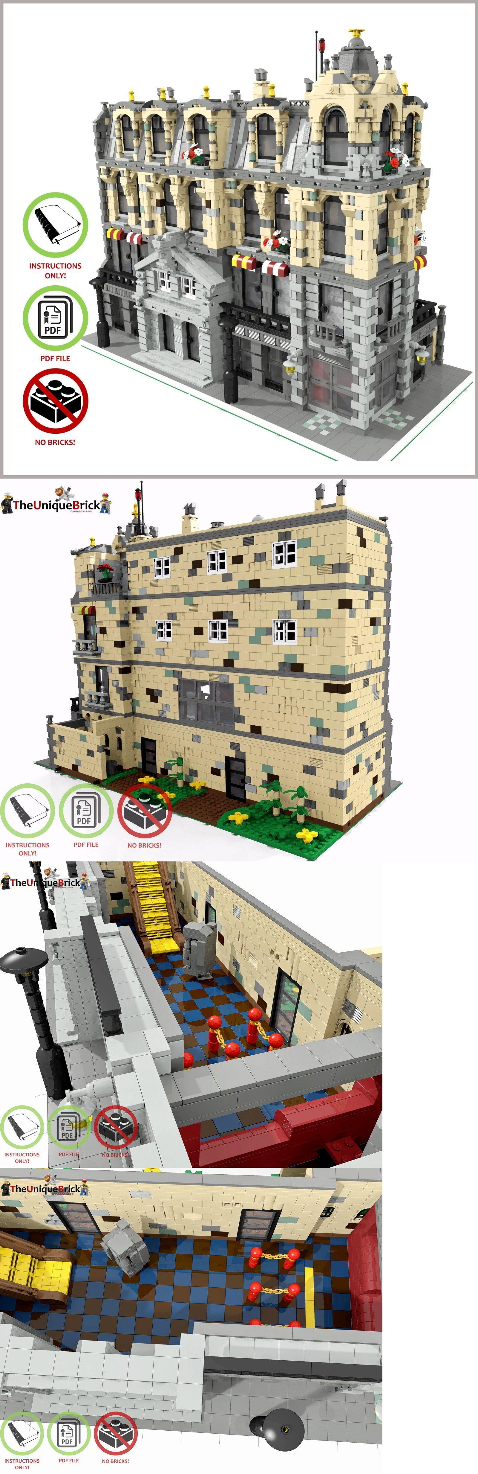 Lego Instruction Manuals 183449 Lego Moc Modular Town City Hall Custom Model Pdf Instructions Manual Buy It Now Only Lego Cool Lego Creations Lego Moc