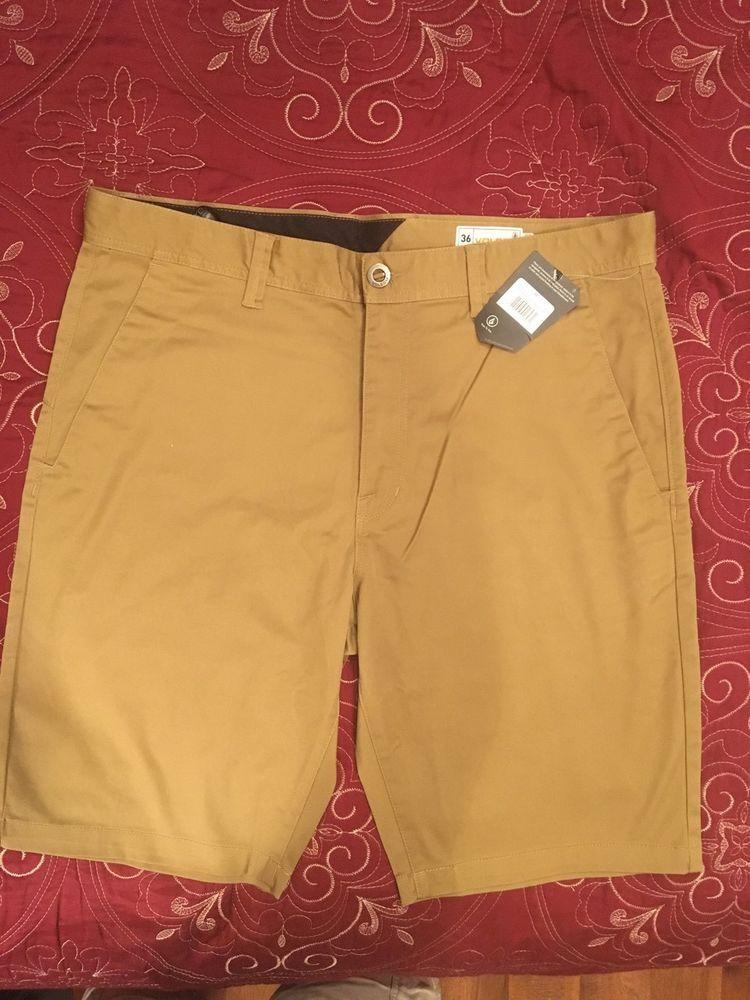 07a4fc87c33 NWT Volcom Frickin  Modern Stretch (Dark Khaki) Shorts 36