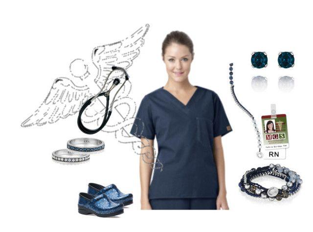 """Bead + Ribbon Multi-Wrap Nurse"" by candibyrenee on Polyvore featuring Dansko, Chloe + Isabel, nurse, rn and TrendyTimelessJewelry"