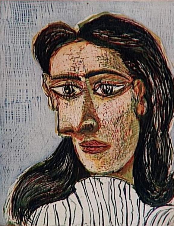 Art Print by Pablo Picasso (1881-1973), 1939, Tête de femme n°3 ...
