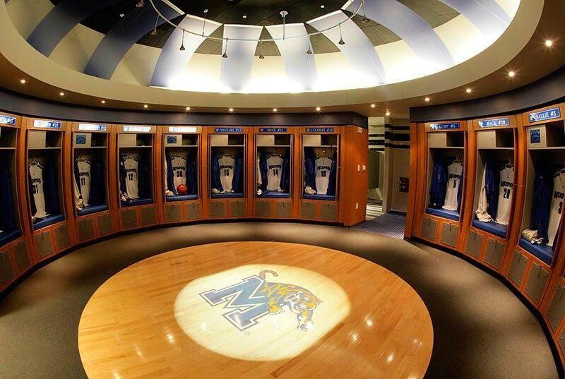 Memphis Tiger S Men S Basketball Locker Room Memphis