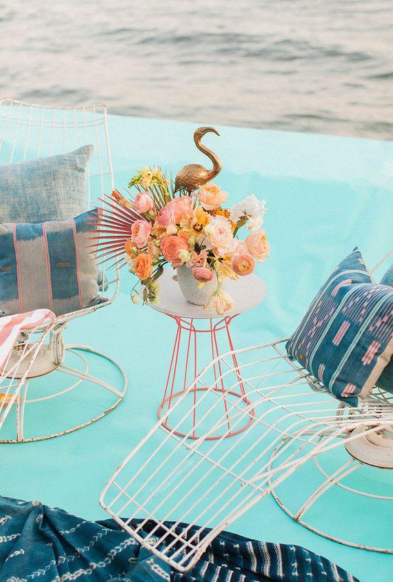 inspiration party mariage californien au bord de mer. Black Bedroom Furniture Sets. Home Design Ideas