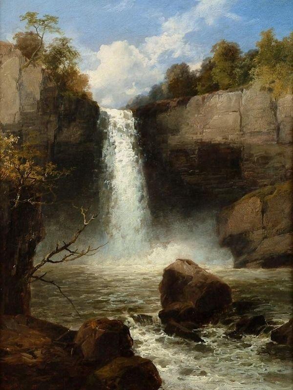 Powys Sgwd Gwladus A Waterfall On Neath River Ystradfellte Brecon Beacons National Park Wales