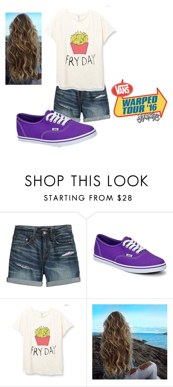 """#Vans8"" by infinityfreak13 ❤ liked on Polyvore featuring Canvas by Lands' End and Vans"