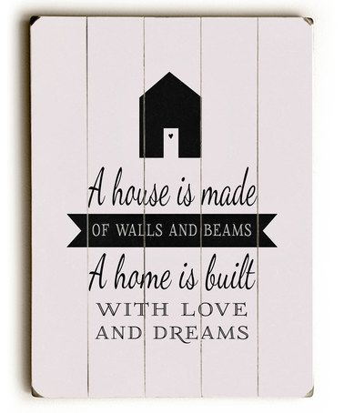 Another great find on #zulily! 'A House Is Made' Wall Art #zulilyfinds