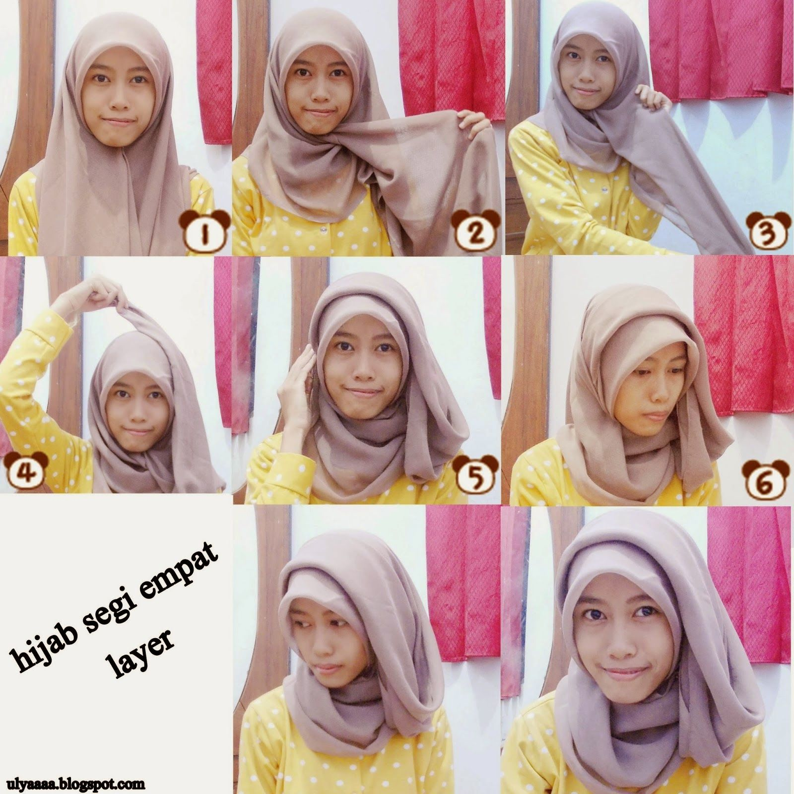 Simple Tutorial Hijab Segi Empat 2015 HIJAB Pinterest Hijabs