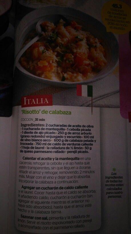 Risotto de calabaza (Italia)