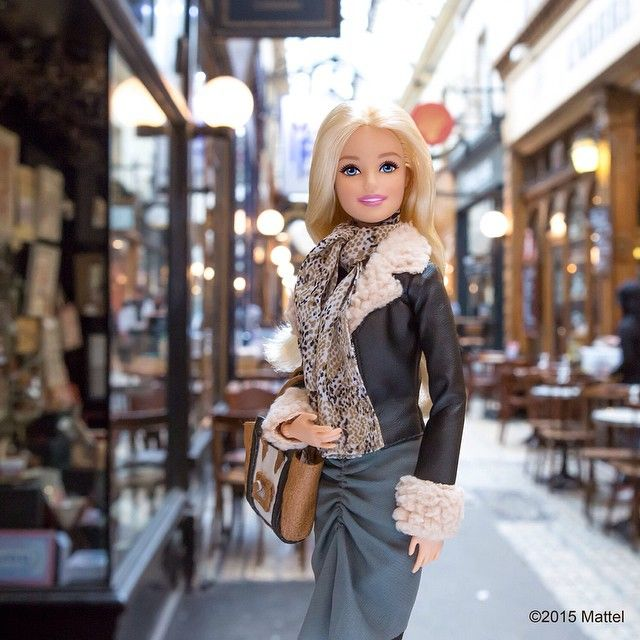 At Passage des Panoramas picking up a few souvenirs from my travels.  #pfw #barbie #barbiestyle