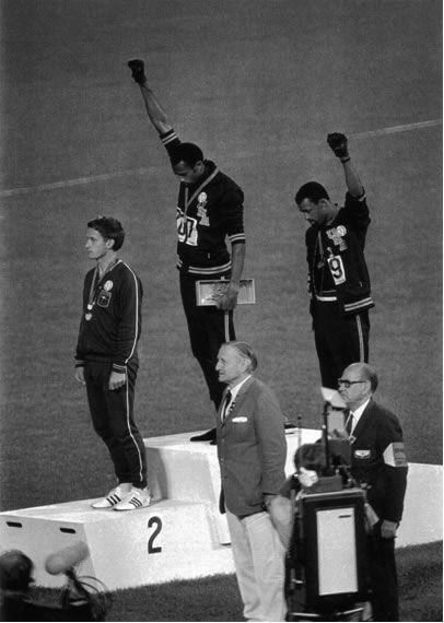 Tommie Smith. John Carlos. (1968 Summer Olympics, Mexico City.)