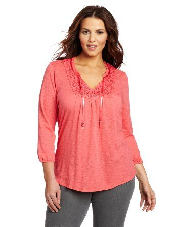 Lucky Brand Women's Plus-Size Camille Top