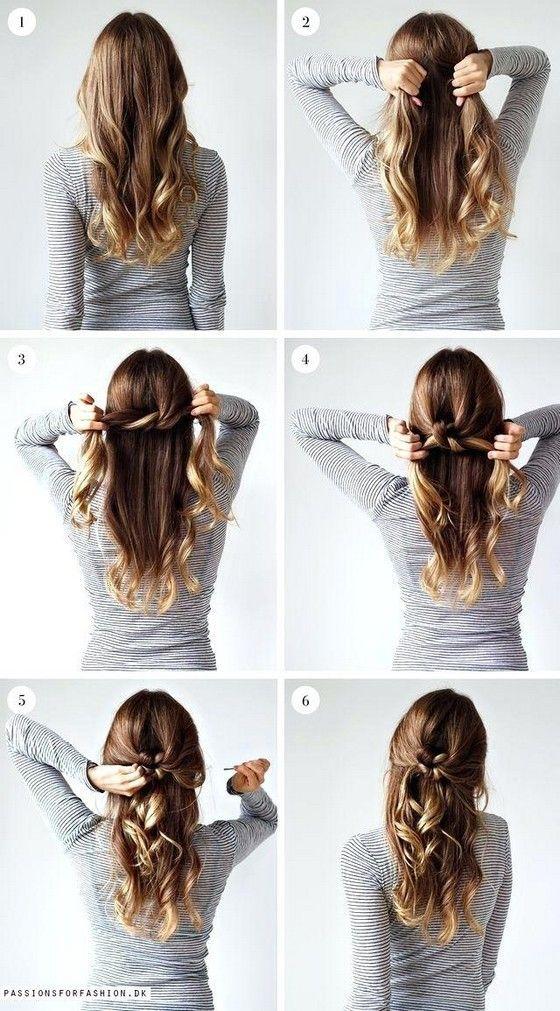 52 Easy Hairstyles Step By Step Diy Gaya Rambut Kepang Gaya Rambut Panjang Ide Gaya Rambut