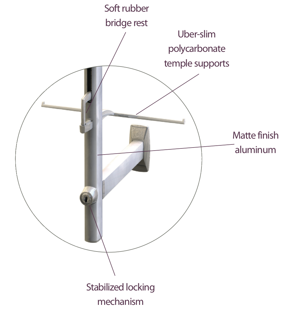 small resolution of locking technology eye wear display rod the mino www ennco com
