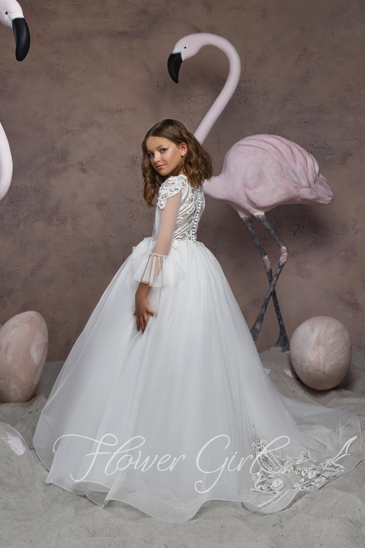 Flower Girl Dress Long Sleeve Girls Easter Dress Ball Gown Etsy In 2021 Long Flower Girl Dresses Girls Easter Dresses Flower Girl Dress Lace [ 1500 x 1000 Pixel ]