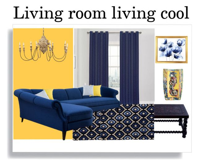 Blue And Yellow Cute Living Room Design Home Decor