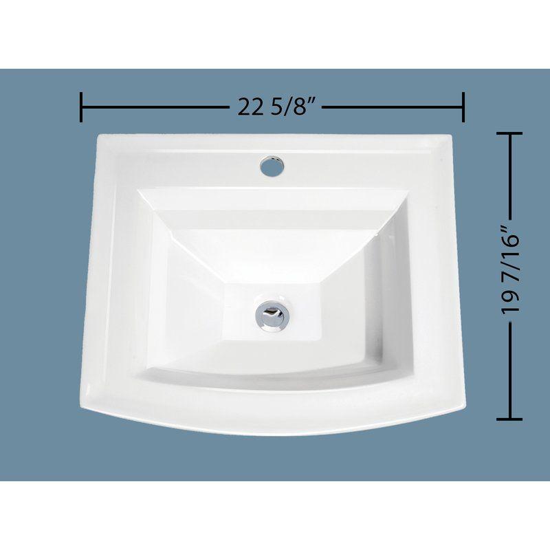 Soleil Top Mount Vitreous Porcelain Rectangular Drop In Bathroom Sink With Overflow Wayfair Drop In Bathroom Sinks Bathroom Sink Bathroom Vanity Sizes