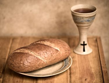 """""""This is my body . . . This is my blood. . .""""  A sacred text in bread and wine."""