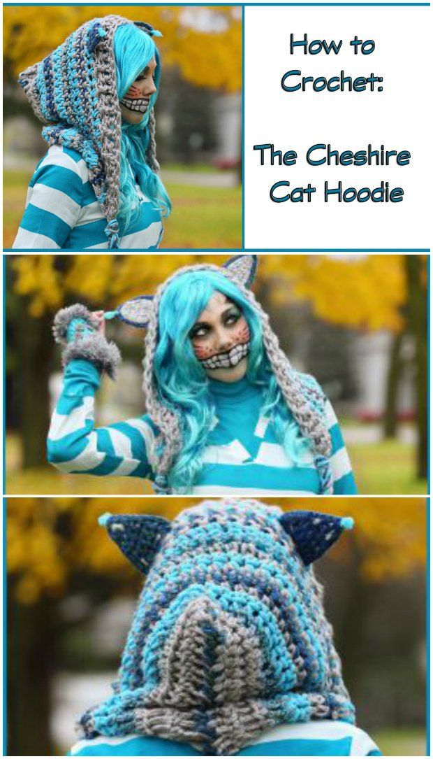 Cheshire Cat Hoodie Crochet Pattern | Gorros y Ganchillo