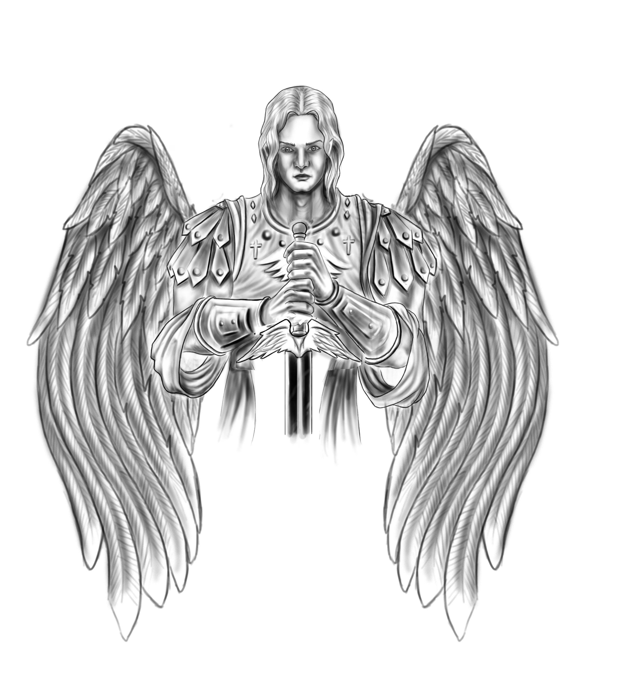 guardian angel tattoo tattoo concept artwork pinterest. Black Bedroom Furniture Sets. Home Design Ideas