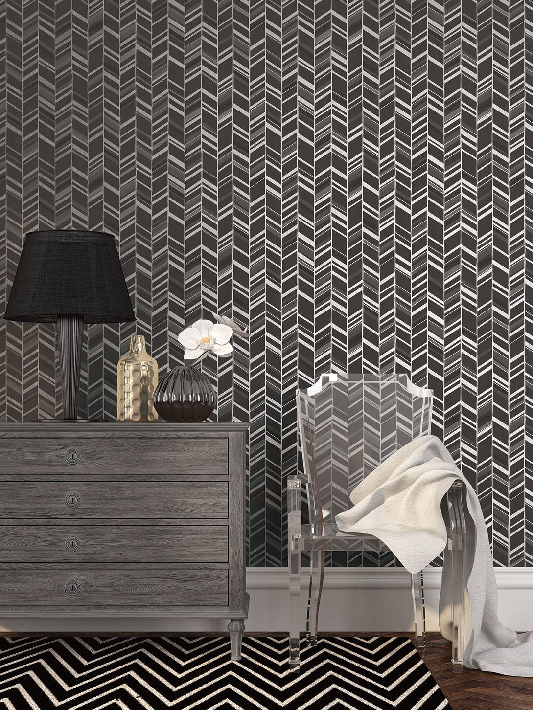 Stand Out From The Crowd With This Black And Silver Metallic