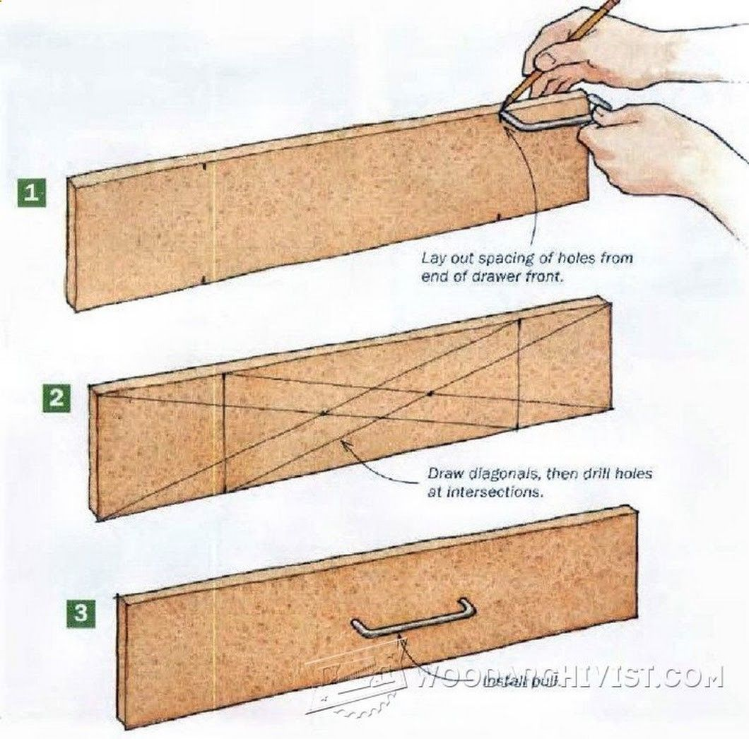 Drawer pull layout Announcing: The World's Largest Collection of 16.000 Woodworking Plans! tedswoodworking-t...
