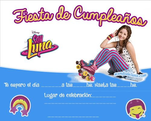 Invitacion De Soy Luna Tarjetas De Cumpleanos De Soy Luna