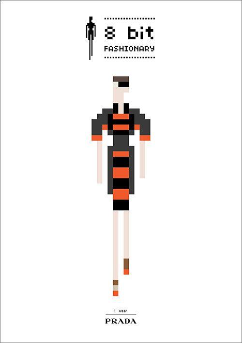 PRADA (8-bit, fashion, vintage &geeky)