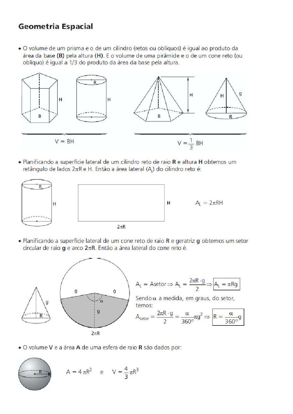 Geometria Espacial Ii Geometria Espacial Fisica E Matematica