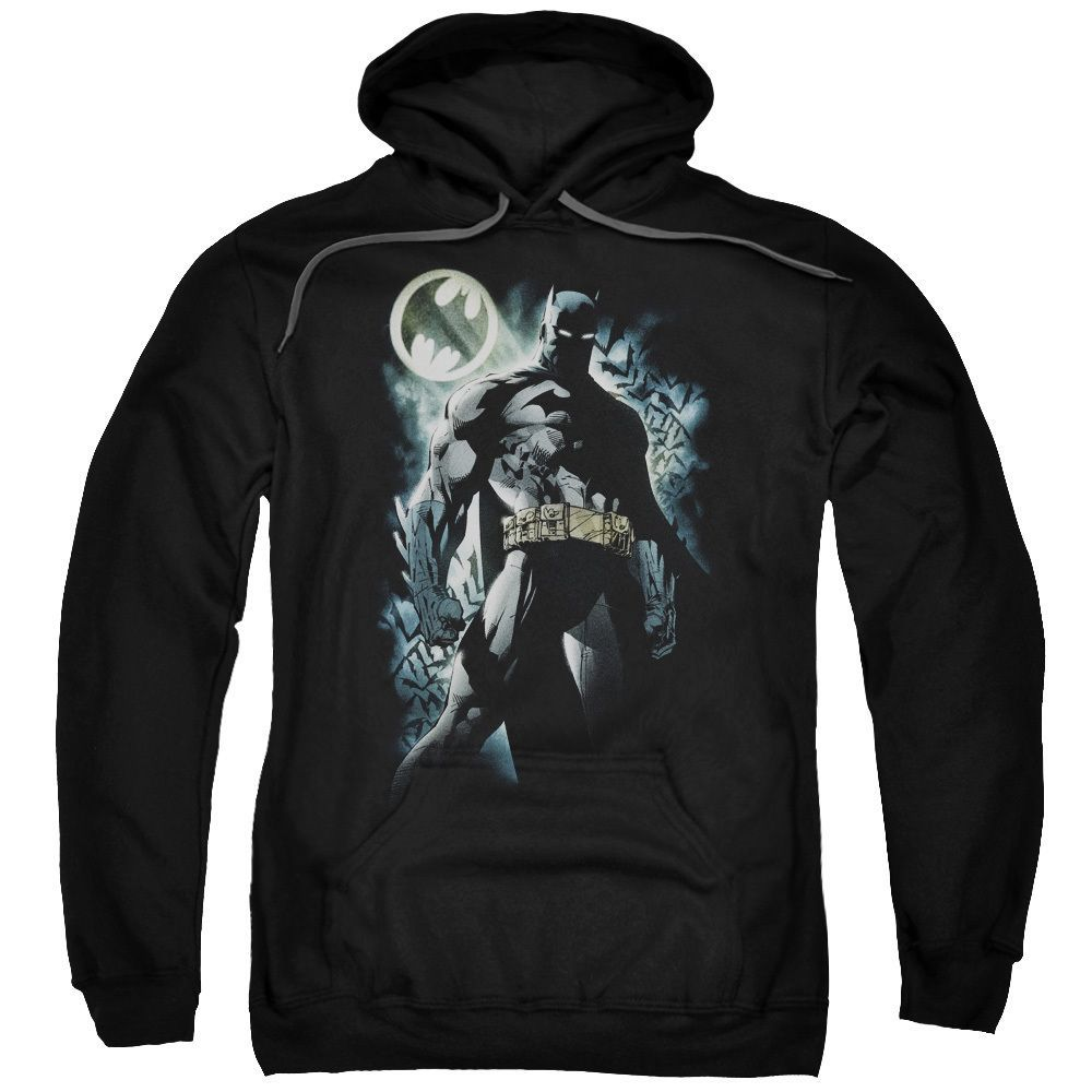 Batman/The Knight Adult Pull-Over Hoodie in
