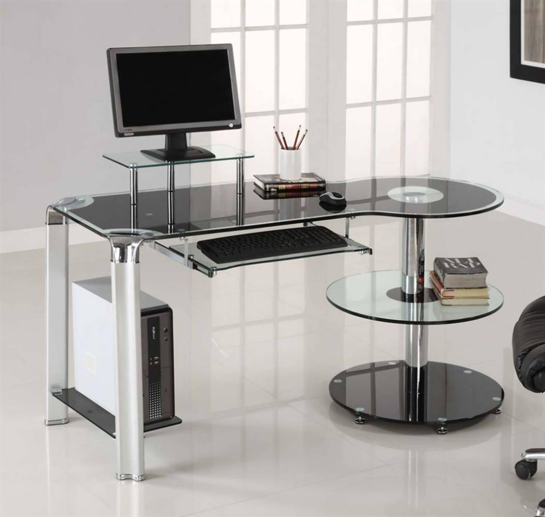 Office Max Desk Shelf Con Imagenes Escritorio De Vidrio