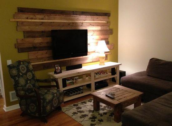 Living Room Remodel Wooden Backsplash Makeover On A Budget Living Room Home Theater Living Room Remodel Living Room Makeovers On A Budget