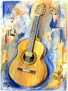 Paintedplums Daily Painting Abstract Still Life Quot Guitar