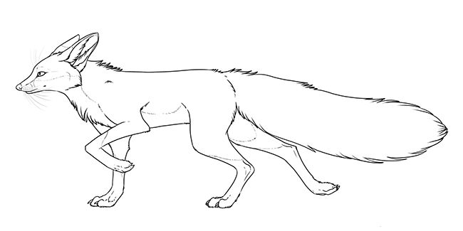 Red Fox Coloring Page Line Art Fox Coloring Page Art