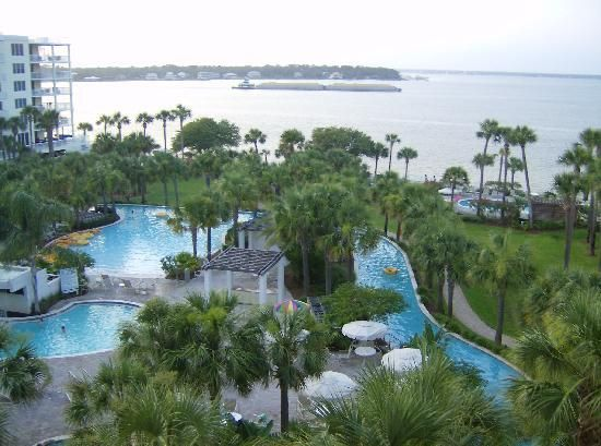 Destin West Beach and Bay Resort: the pool and bay | Beach, S ... on