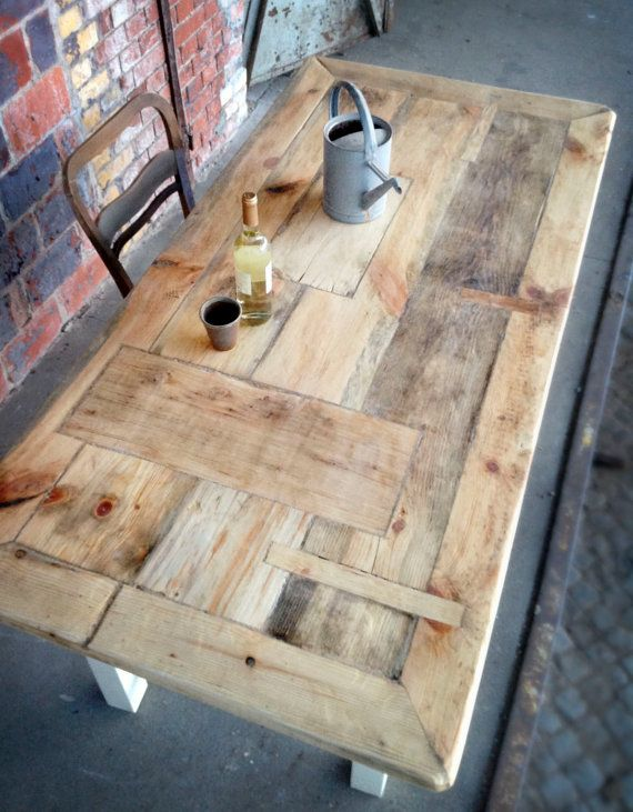 Esstisch aus Holz im ShabbyLandhausStil handmade door Zimmerliebe, €750.00