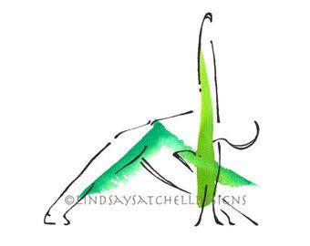 child's pose yoga art print yoga gifts yoga studio  etsy