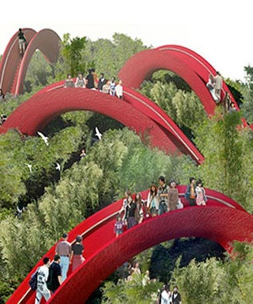 Garden Bridges at International Horticultural Expo in Xian - China - chinesischer garten brucke