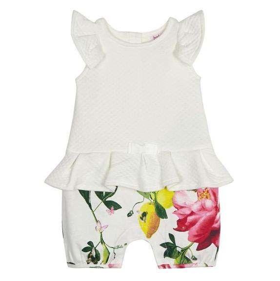 2cd06d11299621 Ted Baker Baby Girls Romper Bodysuit White Floral Designer Newborn Gift 0-3  M